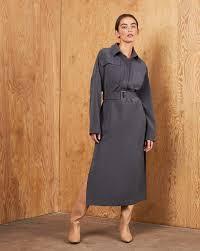 Patch pocket belted midi dress — <b>12Storeez</b>