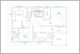 Kerala house plans for a sq ft BHK house
