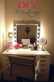 lighting for makeup table an awesome diy makeup vanity perfect for the makeup lover because there39s bathroom lighting ideas dress mirror