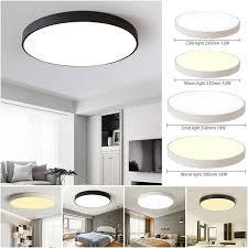 23/30cm Black/White Cold/<b>Warm Modern LED</b> Ceiling <b>Light</b> Home ...