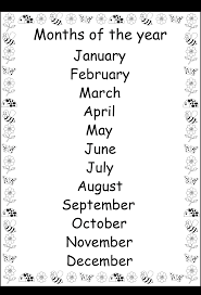 Resultado de imagen de months of the year worksheets