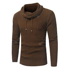 <b>Men</b> Fashion Solid Color Rope Pile Collar Slim Sweater Sale, Price ...