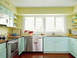 blue kitchen cabinets small painting color ideas: soft color for small kitchen paint ideas small free standing