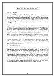 private placement memorandum templates word pdf private placement memorandum template 06