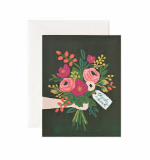 thanks a bunch greeting card by rifle paper co made in usa thanks a bunch