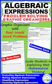 best ideas about algebraic expressions algebra algebraic expressions word problems graphic organizers