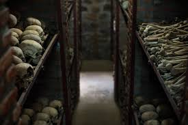 photos rwanda genocide 20th anniversary com skulls and bones of victims killed during the rwandan genocide laid out in the nyamata