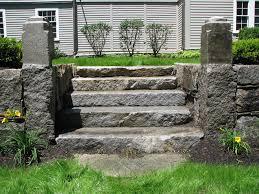 england style steps: antique granite steps reclaimed granite steps antique granite steps
