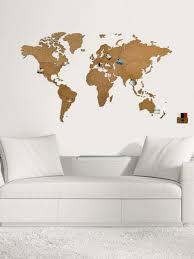<b>Деревянная карта мира</b> Wall Decoration 180x108 cm, коричневая ...