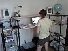 moar wire shelves planks new desk 3 cheap office shelving