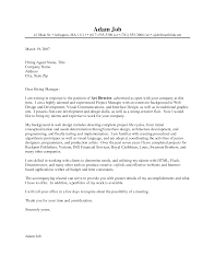 cover letter for director template cover letter for director