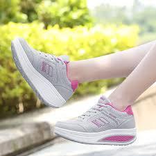 <b>VTOTA</b> Luxury Sneakers <b>Women Platform Wedges</b> Height ...