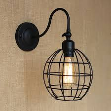 modern loft black ball metal country adjust wall lamp for bar bathroom study bedroom diningroom foyer cheap vanity lighting