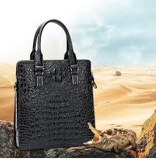 <b>BAQI Men Briefcase Bag Men</b> Handbags Alligator Pattern Cow ...