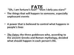 """romeo and juliet revision main themes key scenes character    fate """"oh  i am fortune    s fool """" """"then i defy you stars"""