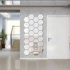Sunm Boutique Hexagon Mirror 12 PCS Geometric ... - Amazon.com