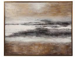 "Gold Bronze <b>Black</b> and Gray <b>Abstract</b> Framed <b>Handpainted</b> Art 66""W ..."