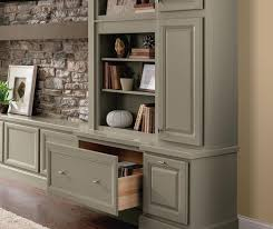 close up of wall bookcase cabinet with open drawer in casual office casual office cabinets casual office cabinets