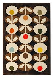 living room orla kiely multi: heals orla kiely oval flowers rug brown rugs rugs living room