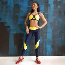 <b>Women</b> Tracksuit <b>Solid Yoga Set</b> T-shirt Leggings Sports Suit Gym ...