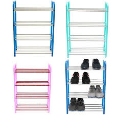 new fashion portable stainless steel abs 4 tier layer shoe tower rack shelf cabinet stand space buy space saving furniture