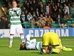 Disappointed Celtic players