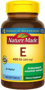 Nature Made Vitamin E 180 mg (400 IU) dl-Alpha ... - Amazon.com
