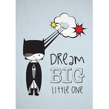 <b>Superhero</b> Art Print <b>Dream Big</b>   Mooma Kids Decor