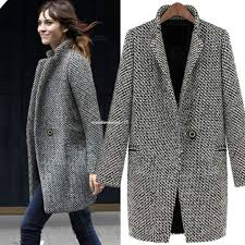 <b>Women Slim Winter Warm</b> Wool Lapel Long Coat Trench Parka ...