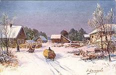 Russian Christmas and New Year's Cards. <b>Winter Landscape</b> Cards