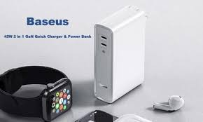 <b>Baseus</b> 45W <b>2 in 1</b> GaN Quick Charger & Power Bank Released on ...