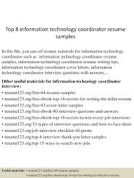 topinformationtechnologycoordinatorresumesamples lva app thumbnail jpg cb