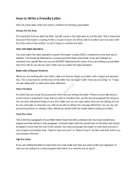 how to write a good friendly letter sample friendly letter tips how to write a good friendly letter sample friendly letter tips for writing a