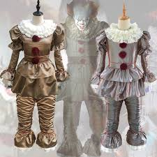 3pcs Clown Stephen King's It Cosplay Costume Pennywise ...