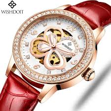 <b>WISHDOIT</b> Fashion Elegant Women <b>Mechanical</b> Wrist Watch ...