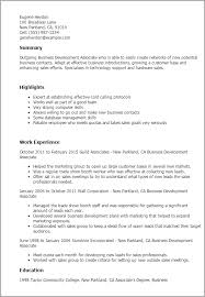 professional business development associate templates to showcase    resume templates  business development associate