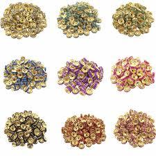 New LNRRABC Hot <b>50 pcs</b>/<b>lot 8MM</b> Fashion DIY Gold Color Wheel ...