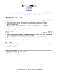 resume examples professional experience of john smith picture it
