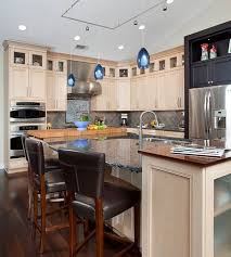 inner fire pendant lights in blue brighten up this kitchen space blue pendant lighting