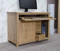 baumhaus mobel oak single pedestal computer oak hidden home office opus solid oak hideaway computer desk baumhaus mobel solid oak extra