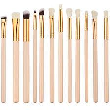 Jam Lee Makeup Brushes Set <b>12pcs Wood Handle Soft</b> Nylon ...