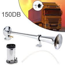 <b>150DB</b> Ultra Loud <b>12V Single Trumpet</b> Air <b>Horn</b> Compressor Kit ...