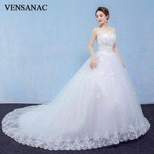 <b>VENSANAC</b> 2018 Ball Gown Pleat Strapless Lace Appliques ...