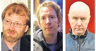 George Saunders, Paul Murray and Irvine Welsh on dialogue. George Saunders, Paul Murray and Irvine Welsh. Photograph: David Shankbone - image