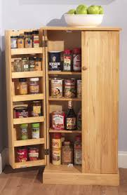 Small Kitchen Pantry Organization Kitchen Alluring Brown Finish Freestanding Kitchen Pantry Cabinet