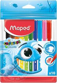 Купить Набор <b>фломастеров Maped Color</b> Peps Ocean 10шт с ...