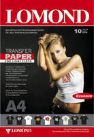 Купить <b>Термотрансферная бумага LOMOND A4</b>,140 г/м2, 10л для ...