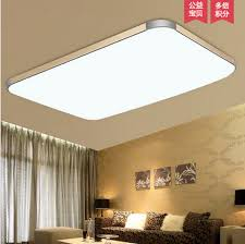 luminarias home decoration living room ceiling lamps modern brief rectangle square remote control ceiling light lamp dimmable cheap ceiling lighting
