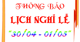 Image result for lịch nghỉ 30/4