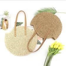 China Wholesale Paper Fashion <b>Summer Woven Round Straw Bag</b> ...